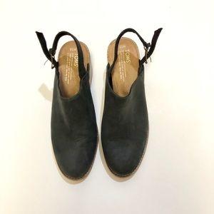 Toms Leila Slingback sandals size 10